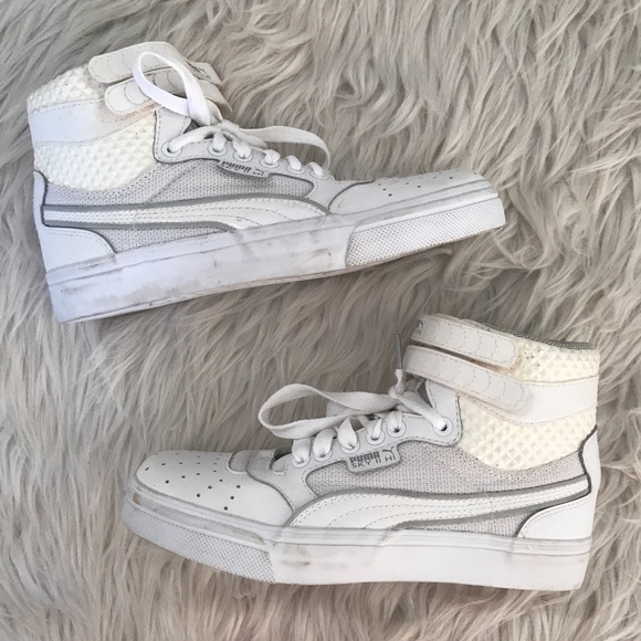 Puma Sky II High White Hi Top Sneakers